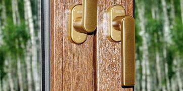 Anti-burglar window handle Rehau Linea Design