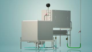Capacitive milk pasteurizer for 300 l UZM-0.3E