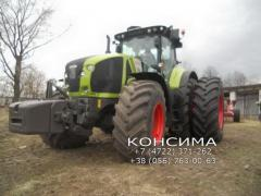 Dual tires for tractors and combine harvesters