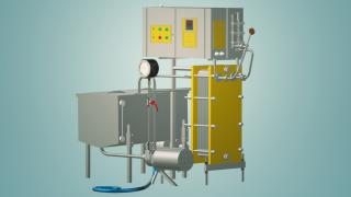 Flow-through milk pasteurizer 1 t / h UZM-1.0R