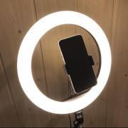 Кільцева лампа 26 см на штативі 2 метри з тримачем для теле