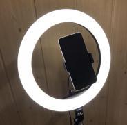 Кольцевая лампа 26 см на штативе 2 метра с держателем для телефо