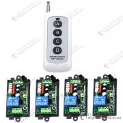 Комплект из 4 приемников и пульта для управления электроустройст