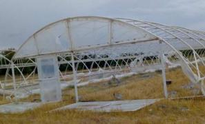 Metal frame greenhouses in krynky