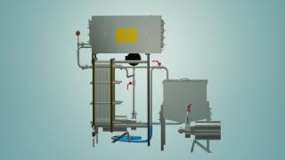 Пастеризатор молока проточный 1 т/ч УЗМ-1,0Р