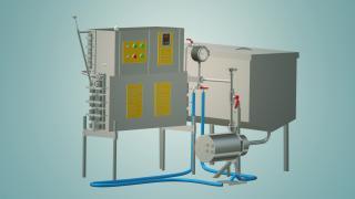 Пастеризатор молока проточний на 500 л УЗМ-0,5