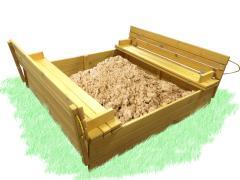 Песочница с крышкой 150х150см