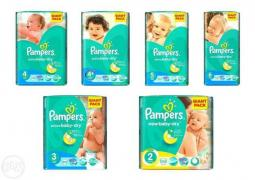 "Sell wholesale diapers ""Pampers Active Baby GIANT PACK"""