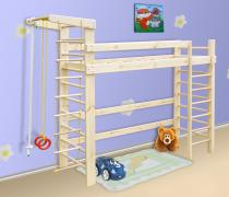 Спортивная кровать - чердак из сосны, спортивный уголок