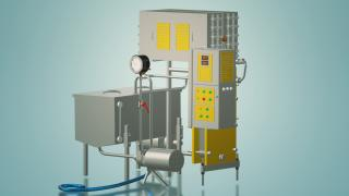 The milk pasteurizer for cheese production 2 t/h UZM-2.0 P