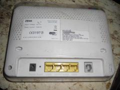 укртелекомовский ADSL WiFi роутер ZTE