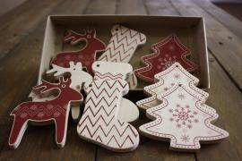 Wooden Christmas decorations set of 9 PCs