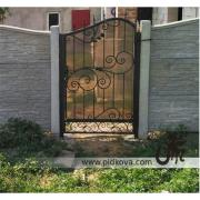 Wrought iron gates and gate, swing gates