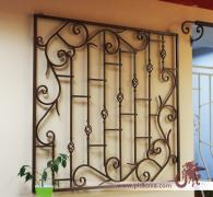 Wrought-iron grille on the window 1240*1320, bars on the window in stock