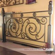 Wrought iron railings available, the section of railing